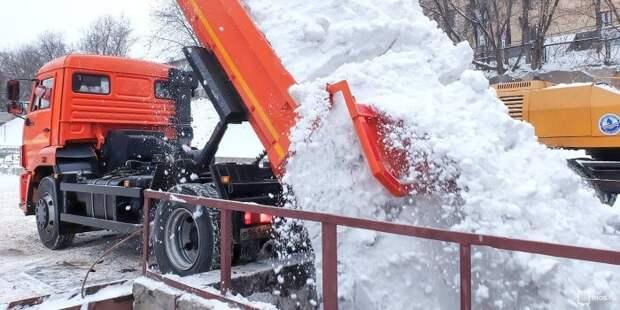 В Хорошевском районе построят снегоплавильный пункт