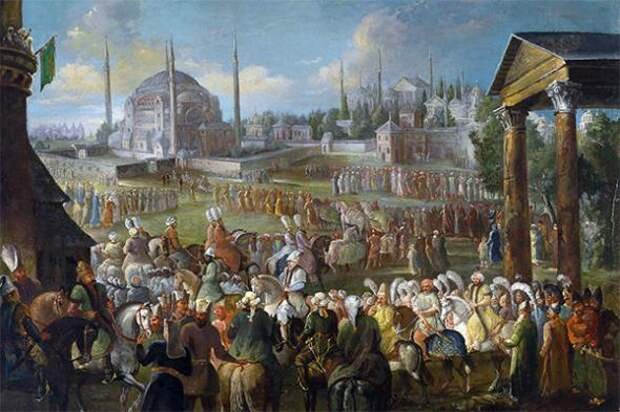 Картина Жана Батиста ван Мура «Шествие Султана в Стамбуле»