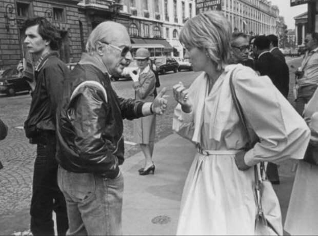 """Жерар Ури на съёмках фильма """"Укол зонтиком"""", 1980 год"""