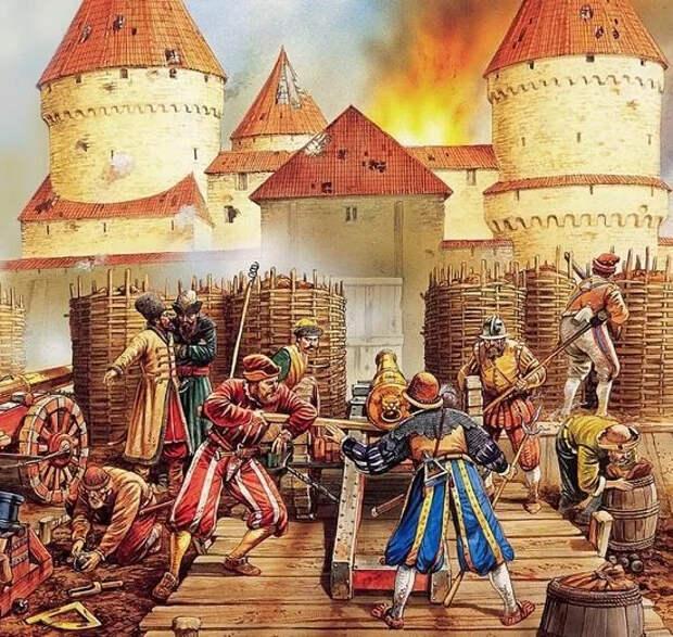 Осаждённые русские долго удивлялись тому, как иноземцы вместо штурма дерутся под стенами между собой