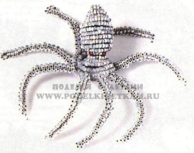 осьминог из бисера схема на www.podelkidetkam.ru