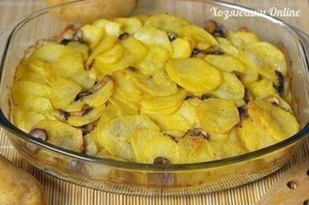 Картошка с грибами в сметане