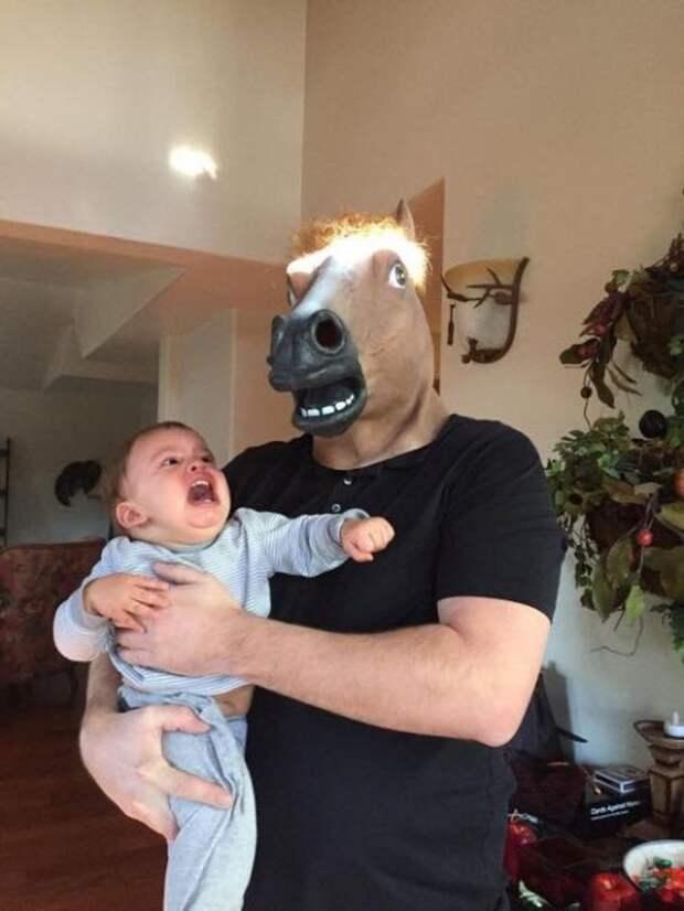 17. Папаша коней мочит! дети, отец, позитив, юмор