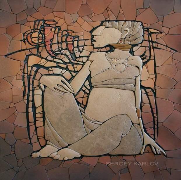 Потрясающая станковая мозаика Сергея Карлова!