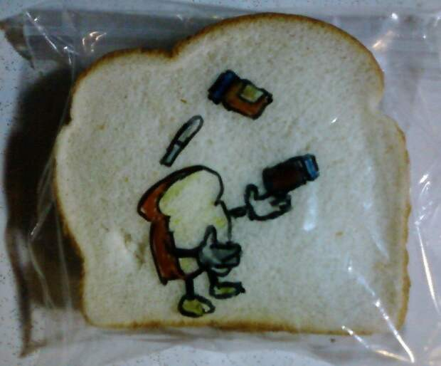 In 2008, David LaFerriere decided to surprise his kids at school by drawing on their lunch sandwich bags.