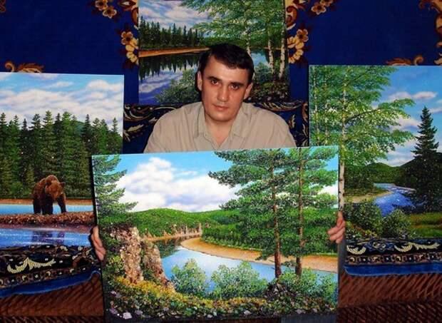 Картины из камней самоцветов. Художник Алексей Мосман