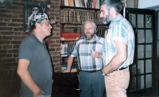 Бродский, Вайль, Довлатов, Нью–Йорк, США, 1980-е.