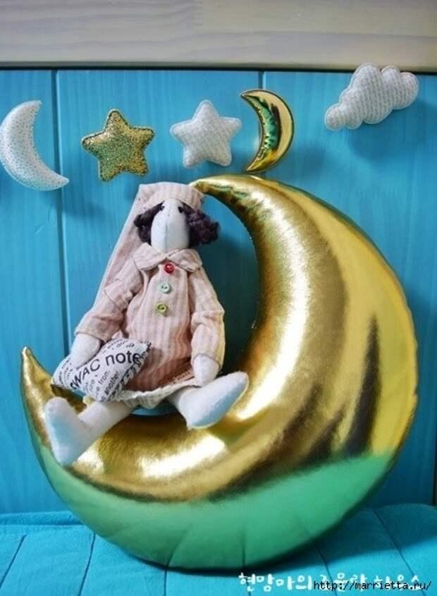 Золотой месяц для детской комнаты (8) (445x607, 172Kb)