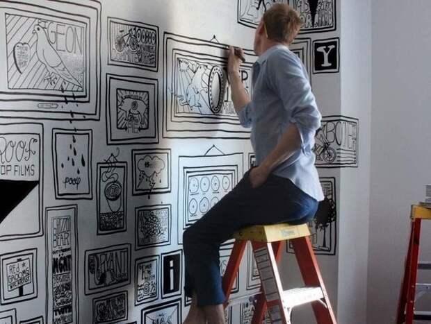 Талантливый молодой художник из Нью-Йорка Timothy Goodman увлекается росписью стен.