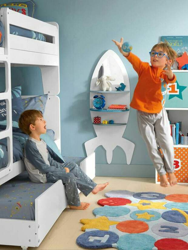 Полочки в детскую комнату (подборка идей)