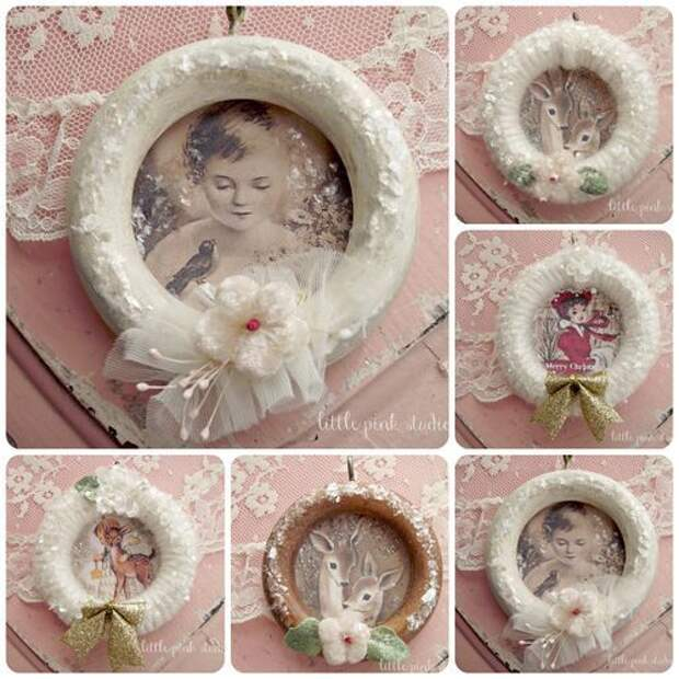 Ring ornament tutorial  (made from vintage curtain rings)