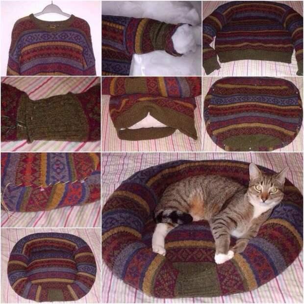 Диван из свитера