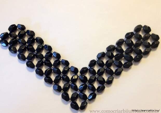 стильное ожерелье из бисера и кристаллов. мастер-класс (13) (700x491, 220Kb)