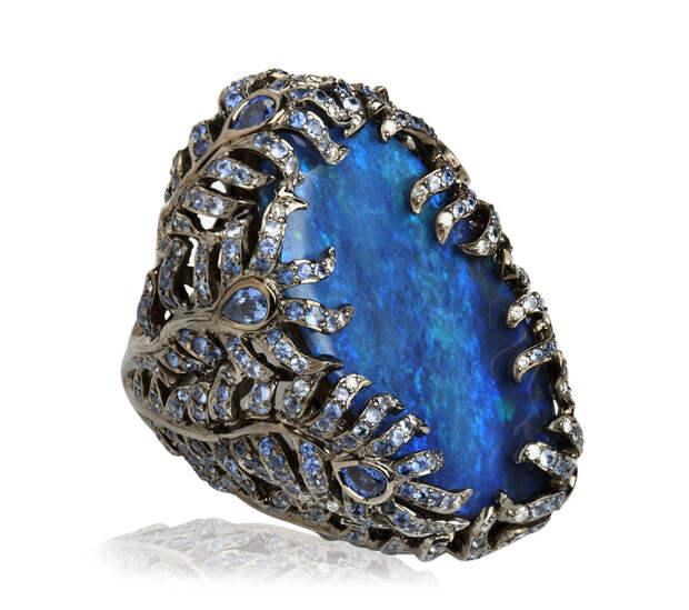 wendy yue fantasie 18ct white gold diamond blue