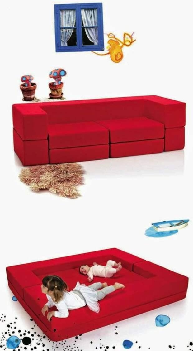 Модульный диван для малыша