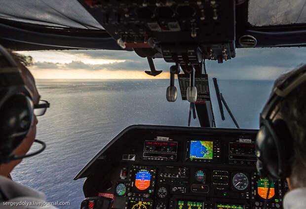 Что будет, если полететь в грозу на вертолете