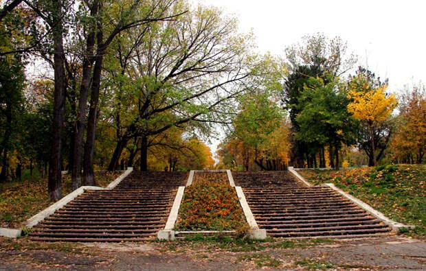 старый парк осенью