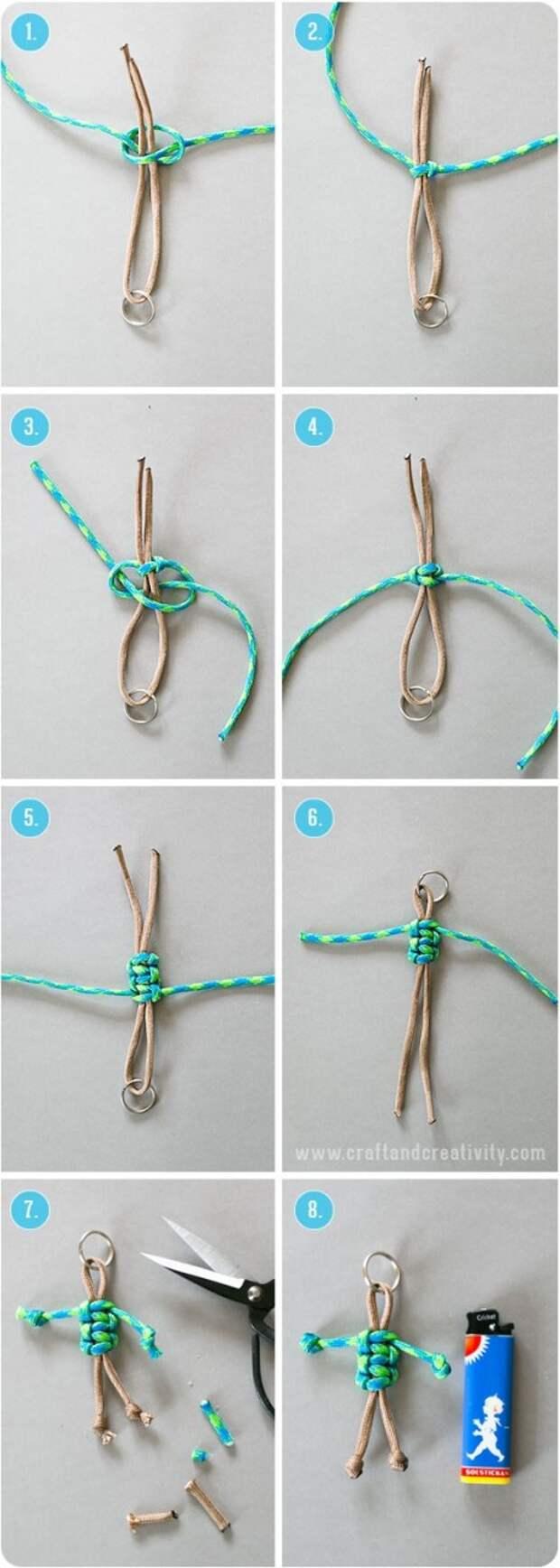 Вуду-брелок из шнурка (Diy)