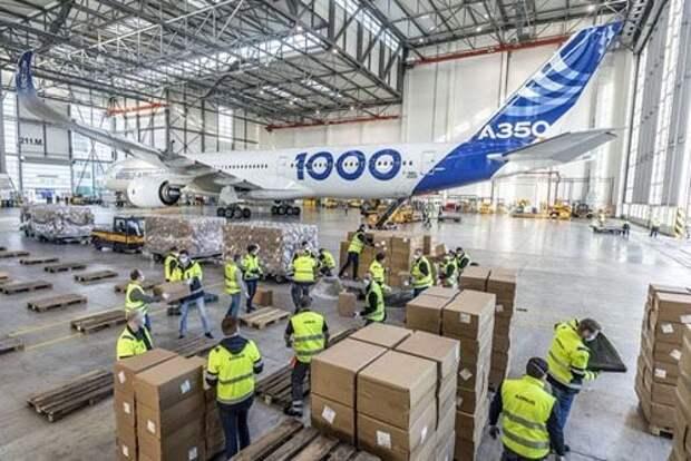 Опытный экземпляр Airbus A350-1000 начал доставку грузов из Китая