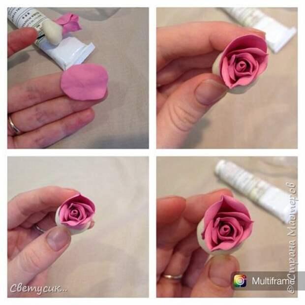 Мастер-класс Флористика искусственная Лепка МК розы из ХФ как и обещала Фарфор холодный фото 10