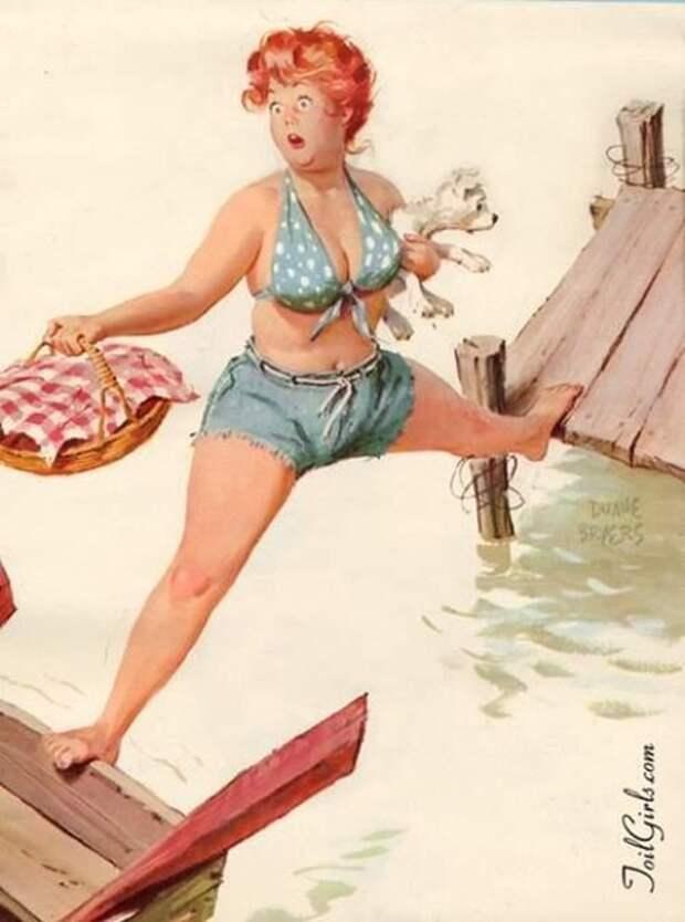 Оригинальный pin-up о приключениях приятной пышечки по имени Спелая Хильда.
