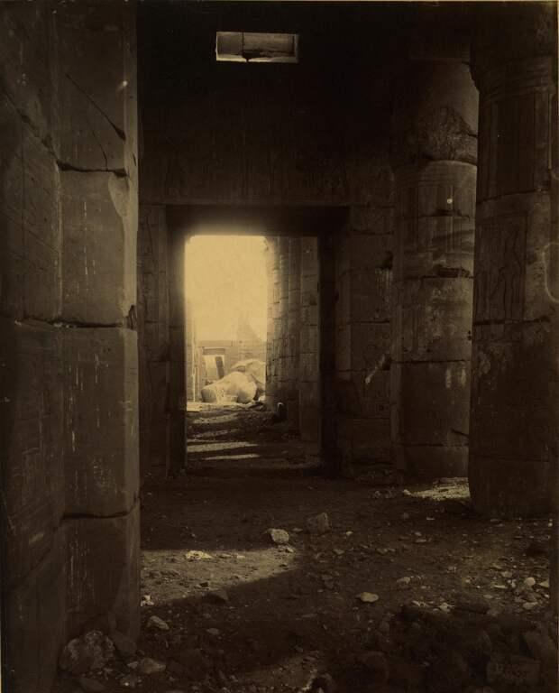 Филе. Руины храма. 1870