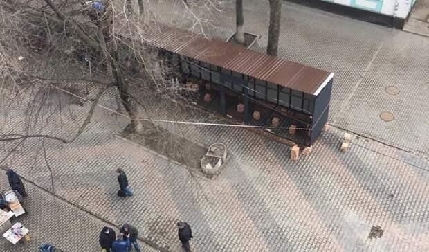 Ларьки снова установили на Сержантова в Ростове