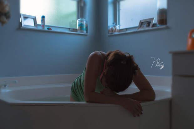 Настало время родов! ванна, женщина, роды