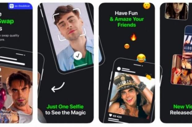 Украинское приложение Reface вышло на первое место в AppStore в США