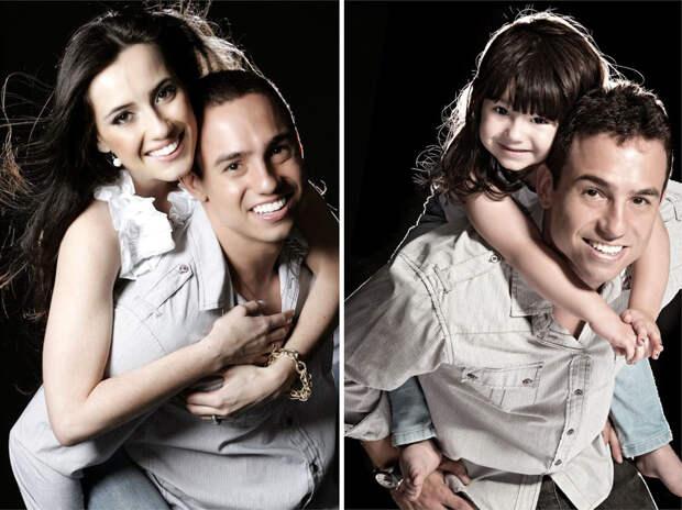 Спустя три года после трагедии бразилец воссоздает фото покойной жены со своей трехлетней дочерью