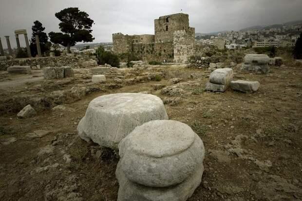 Руины Библа. Современное фото