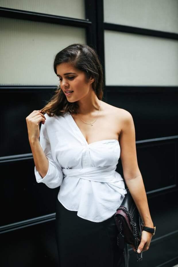 Четыре Новых способа надеть белую рубашку (Diy)
