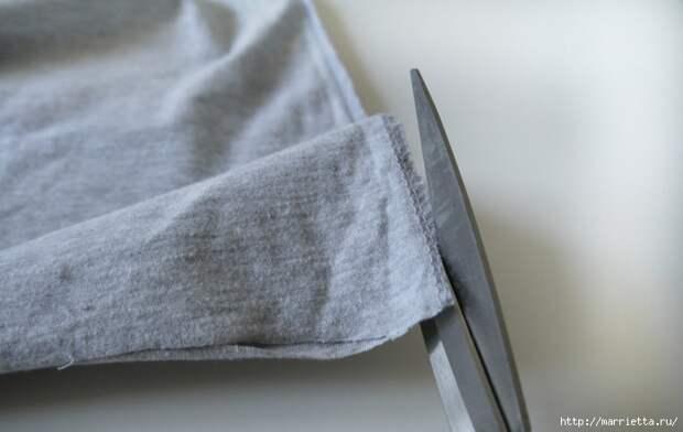 Вязание пряжей из футболок. Как нарезать пряжу (8) (700x442, 167Kb)