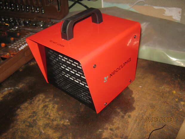 тепловентилятор с закрытым нагревательным элементом