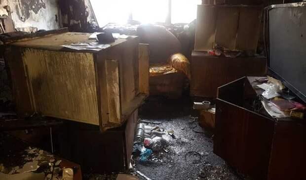 Мужчина получил ожоги во время пожара на Тимирязева вНижнем Тагиле