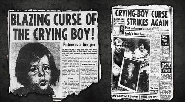 Месть «Плачущего мальчика»: кого преследовала картина-поджигательница