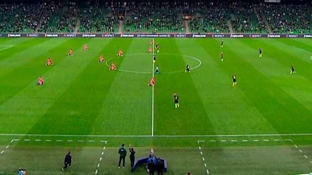 В УЕФА прокомментировали отказ игроков «Краснодара» преклонять колено перед матчем Лиги чемпионов с «Челси»