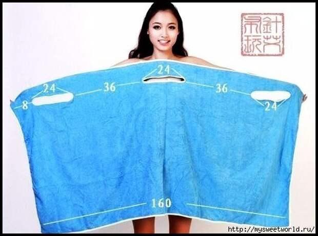 Пляжный трансформер - полотенце-сарафан