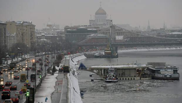Вертолетная площадка на Фрунзенской набережной