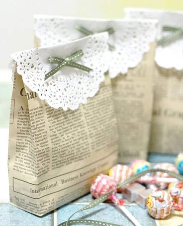 Пакетик для конфет или печенья (Diy)