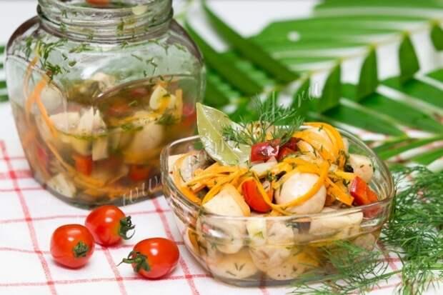 Рецепт грибов маринованных с овощами
