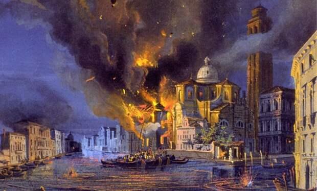 Бомбардировка Венеции с воздуха.