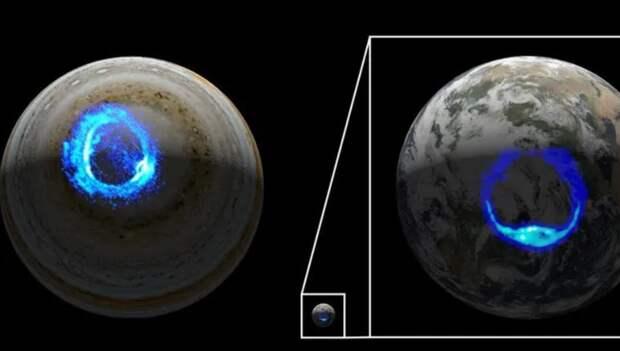 Зонд «Юнона» продемонстрировал рождение штормовых сияний на Юпитере