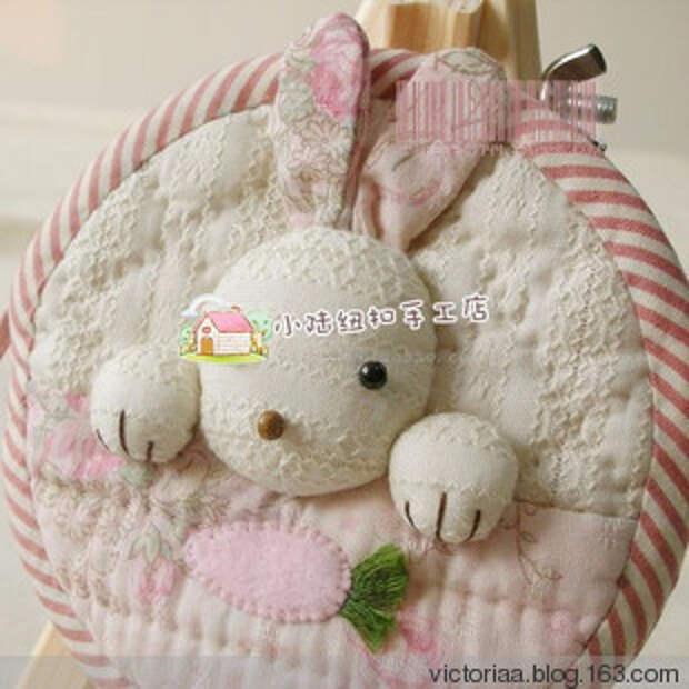 Лоскутное шитье. Кошелек с кроликом (30) (310x310, 105Kb)