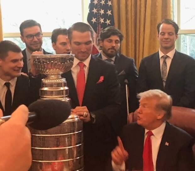 Как Овечкин встретился с Трампом в Белом доме