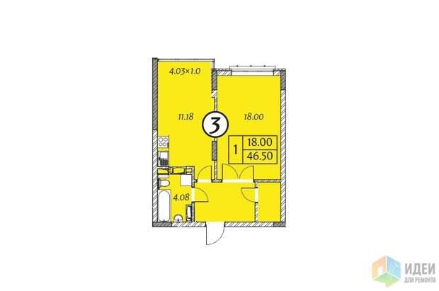 Планировка квартиры 46 кв м