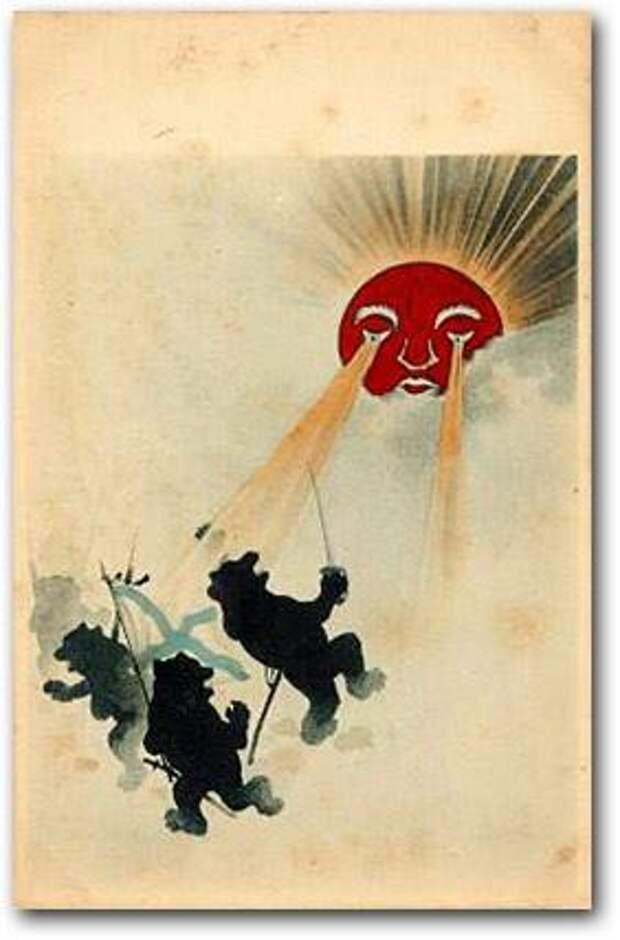 1904-1905 Япония медведь, россия