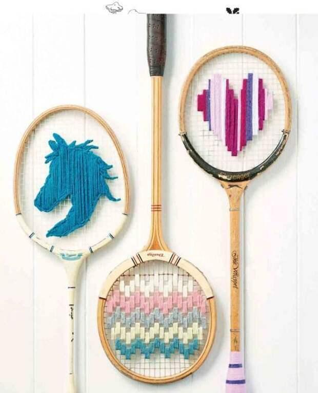 Вышивки на теннисных ракетках (трафик)
