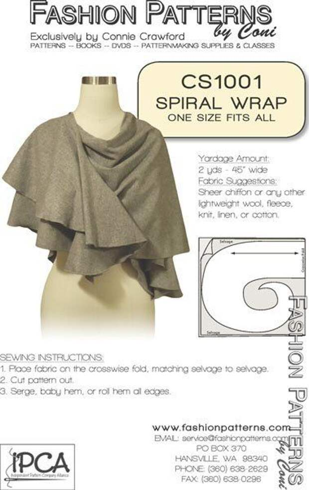 шарф накидка