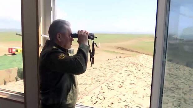 Шойгу объявил о завершении проверок войск на юге и западе России